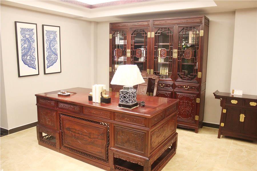 缅甸花梨木书柜的价格表一般是多少?缅甸花梨木书房款式