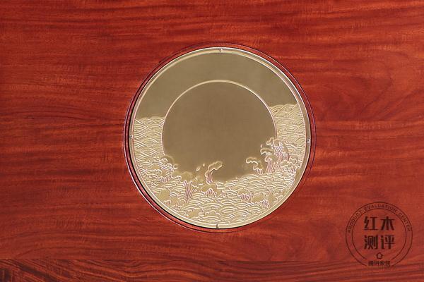 居典红木《悦几千禧沙发》中式海浪纹雕刻
