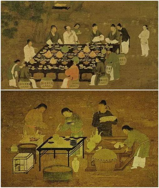 北宋 宋徽宗《文会图》局部,描绘了北宋时期文人雅士品茗雅集的场景.jpg