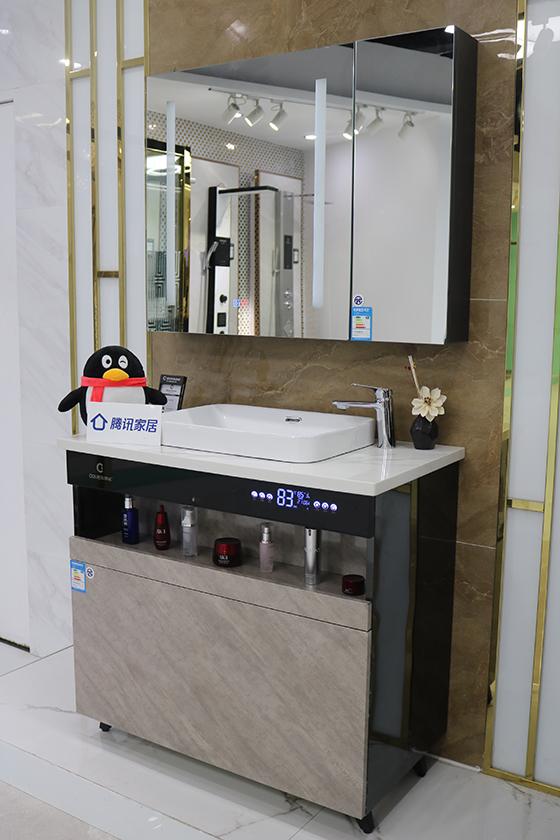 测评 | 欧帝洁浴室柜集成热水器,时尚轻奢省空间
