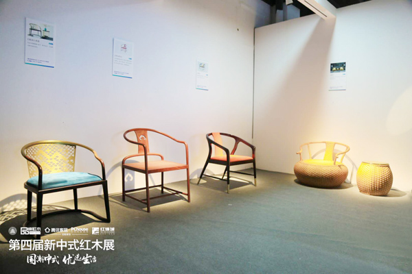 """五邑大学院展出的""""新意思""""新中式家具作品"""