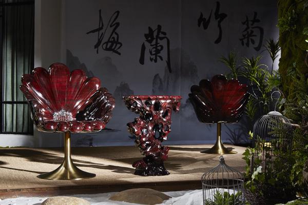 """""""新意思""""新中式红木家具——泰和园《菊花椅》"""