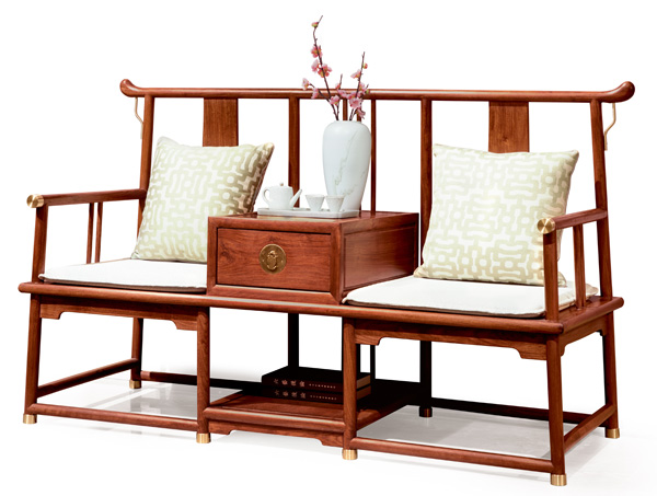 居典红木《圆融休闲椅》