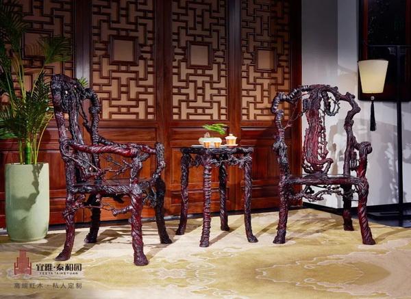 """泰和园两大产品亮相""""新国风""""经典红木家具作品展和""""新意思""""新中式红木家具展"""