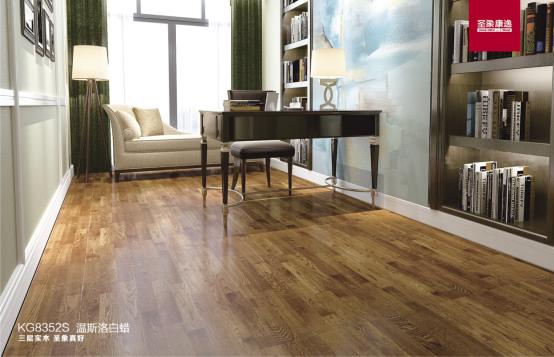 圣象温斯洛白蜡三拼花实木地板 打造绿色健康家居空间