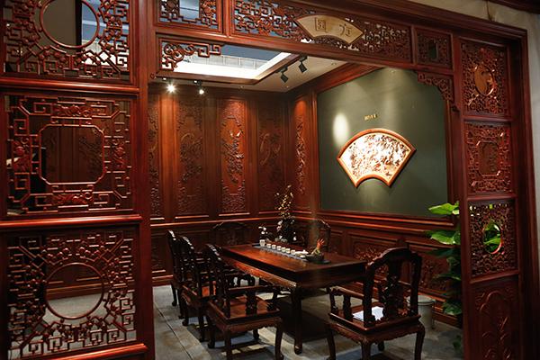 国方家居茶空间样板间之一,围绕中式茶文化展开设计,以给客户提供参考