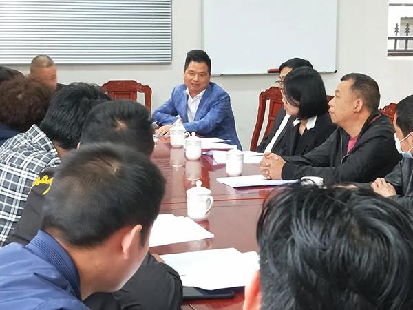 中信红木董事长李忠信在红木家具规上企业油改水推进现场会议上分享