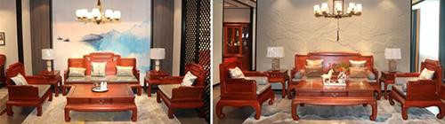 中信红木古典系列新品《铭君沙发》、《尚品沙发》