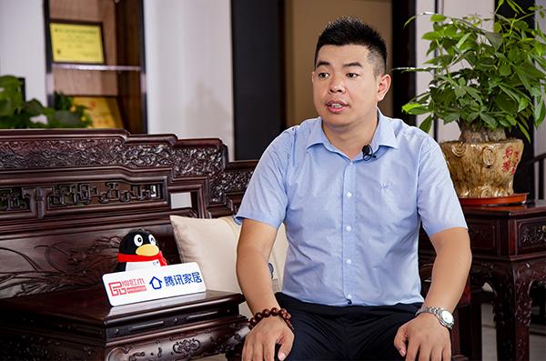 居典红木董事长尹付林接受腾讯家居&品牌红木采访