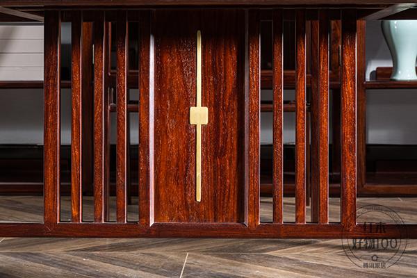 直柵設計,勾勒出溫潤靈動的空間意境