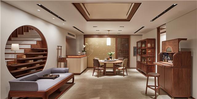 10-一口 前台及圆融大餐桌-新天地半木之家.jpg