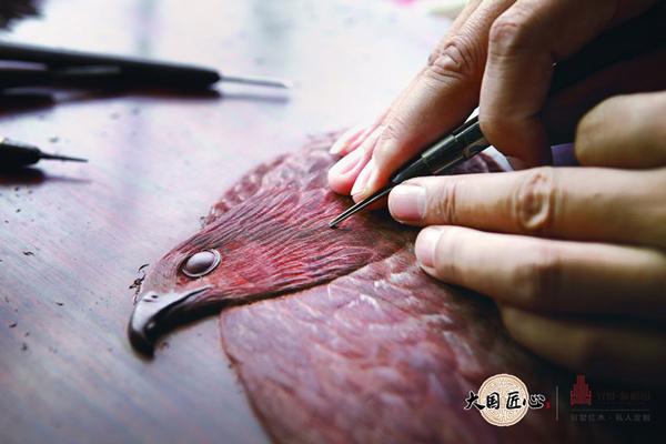 第五大木雕技艺——丝翎檀雕