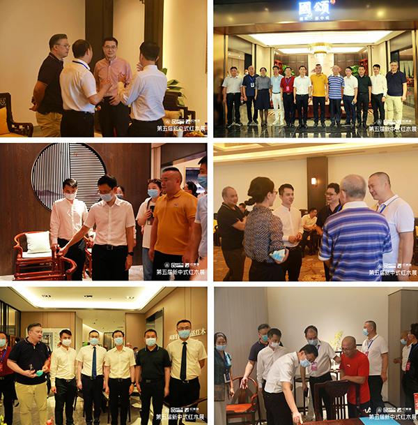林伟华会长与领导专家共同参观红木品牌展厅